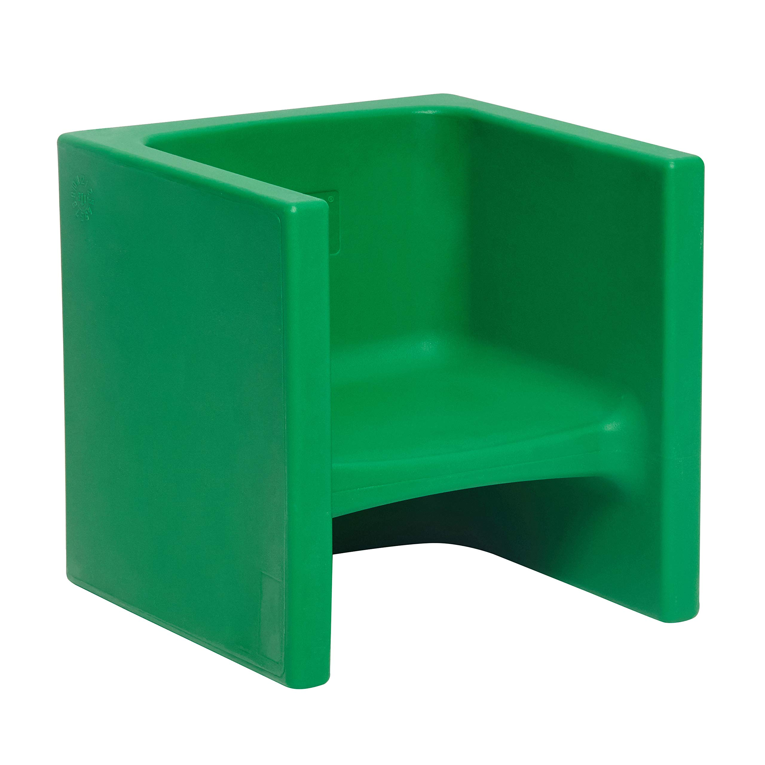 ECR4Kids Tri-Me 3-in-1 Cube Chair, Portable Indoor/Outdoor Play Seat or Table for Kids and Toddlers, Green by ECR4Kids