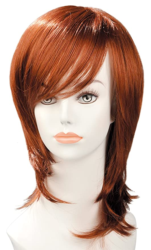 World Wigs Perruque Rousse Carré Long Plongeant/