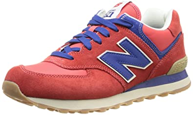 new balance 574 herren sneaker rot mit encap sohle