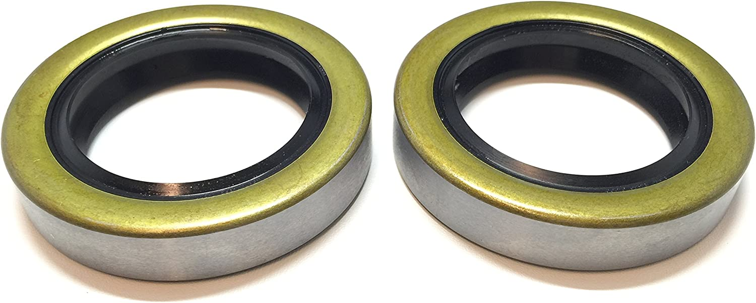 """Oil and Grease Seal 1.339/""""x 1.969/""""x 0.315/"""" Inch Rubber Covered Double Lip w//Gart"""