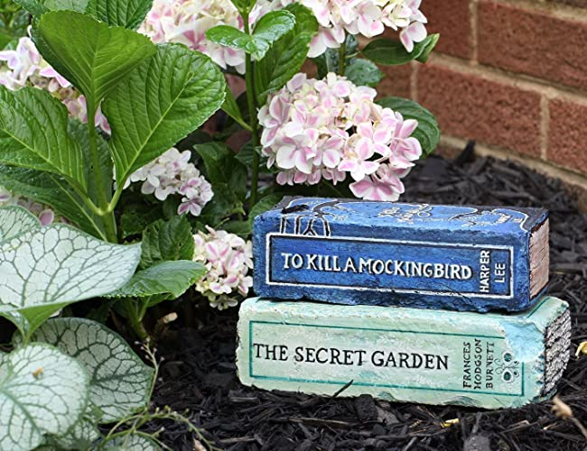 The Secret Garden   Artisan Hand Painted Garden Bricks Or Book End