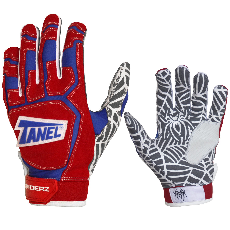 Tanel 360 Spiderz Web大人用野球/ソフトボールバッティング手袋 B0713TSP45 Large|Red/Royal/White Red/Royal/White Large