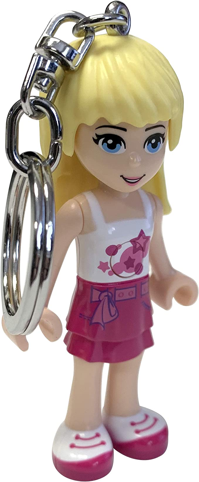 Moving Parts LEGO Friends Stephanie Keychain Light 2.75 Inch Perfect for Backpacks Long Lasting LEDs Keychains