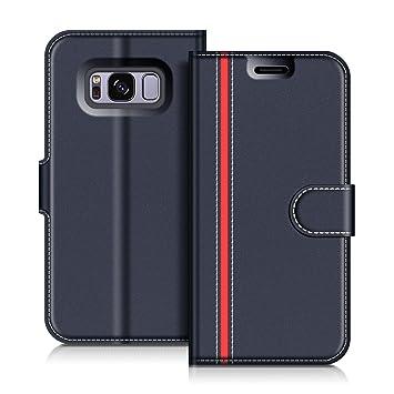COODIO Funda Samsung Galaxy S8 con Tapa, Funda Movil Samsung S8, Funda Libro Galaxy S8 Carcasa Magnético Funda para Samsung Galaxy S8, Azul ...