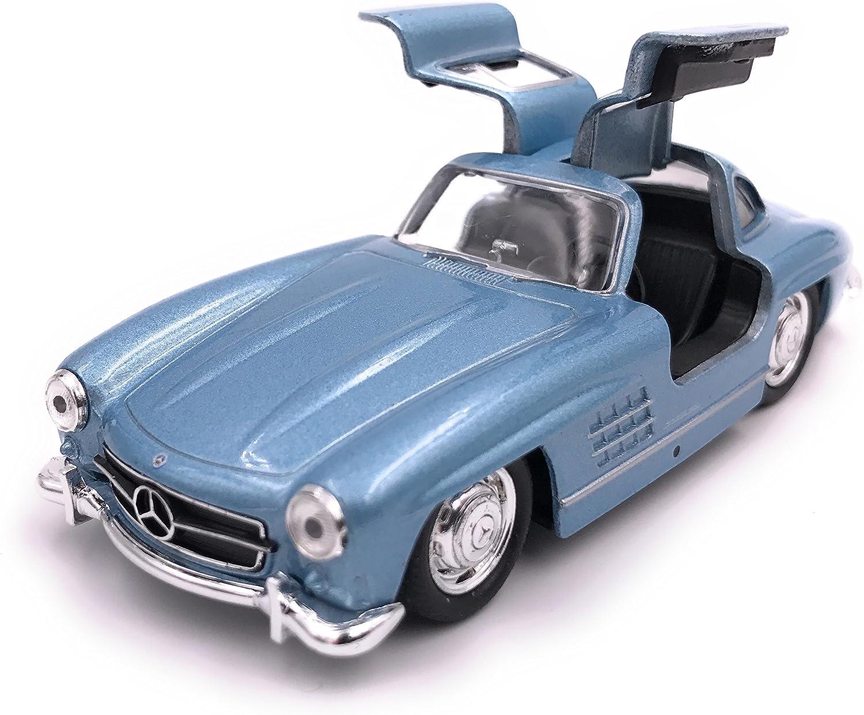 H Customs Mercedes Benz 300 Sl Modellauto Auto Lizenzprodukt 1 34 1 39 Blau Auto
