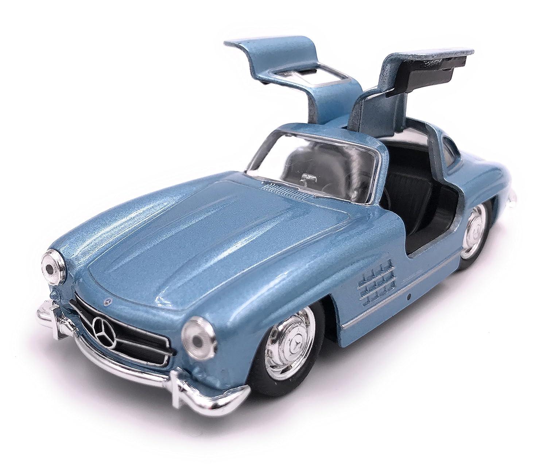 34-1 Welly Mercedes Benz 300 SL mod/èle de Licence de Voiture Produit 1 39 Blue
