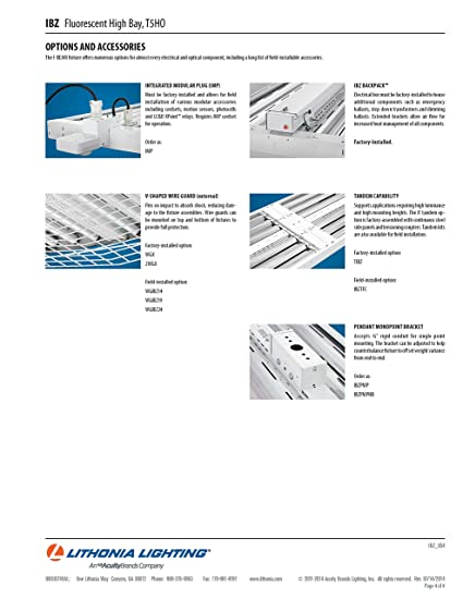 Lithonia Lighting IBZ 654L GEB10PS90 6-Light Gloss White T5 ...