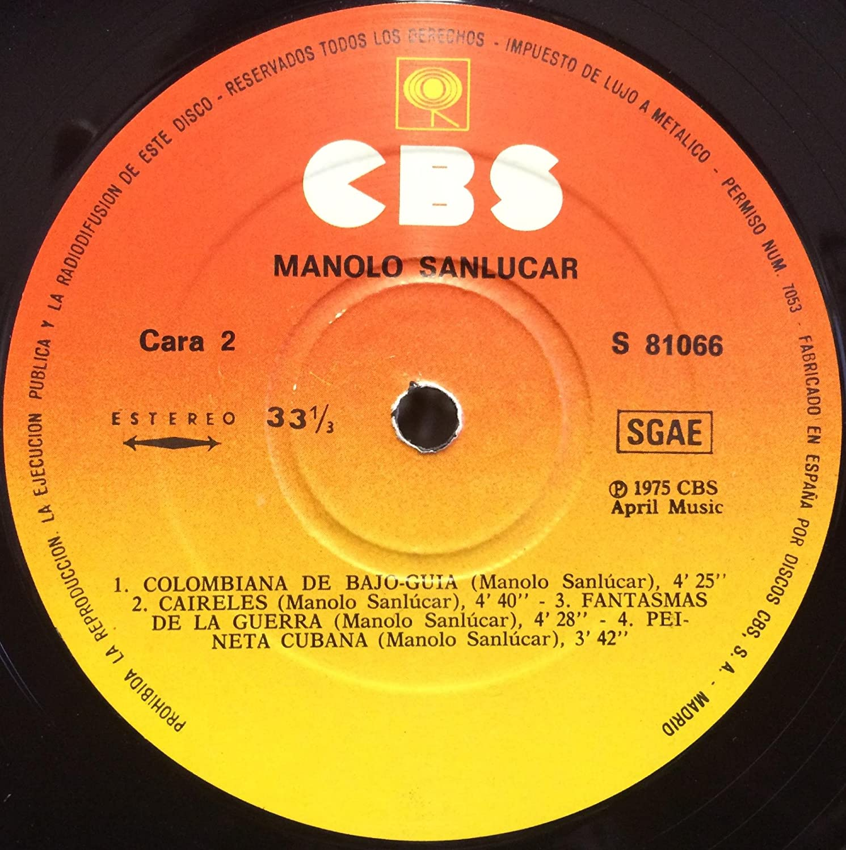 Amazon.com: Manolo Sanlucar Sanlucar vinyl record: Music