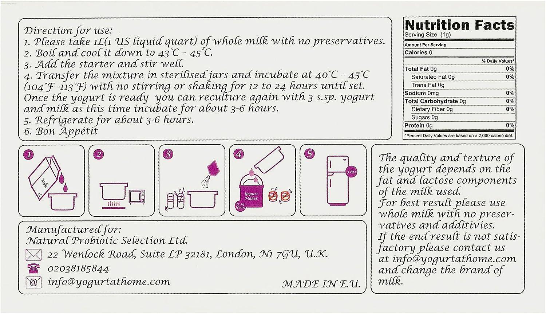 Cultivo de yogur acidophilus – Paquete de 12 bolsitas de cultivo liofilizado para preparar yogur acidophilus auténtico y simple