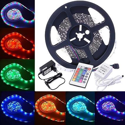XCSOURCE® 5M SMD3528 Tira LED Flexible, Lamparas de Led, Tira Luz 7colores, Tiras Decoración, Bombillas ...