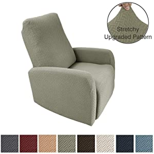 Obytex 4 Pieces Stretch Recliner Chair Cover Polyester and Spandex Upgrade Pattern Couch Covers Dog Cat Pet Slipcovers Furniture Protectors,Machine Washable