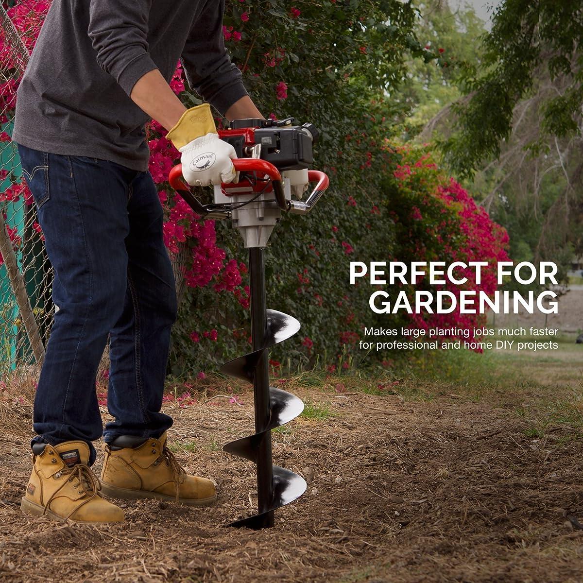 "Hiltex 10245 4""x30"" Steel Gardening Auger Bit   For Planting Bedding, Bulbs, Seedlings   3/4"" Shaft"