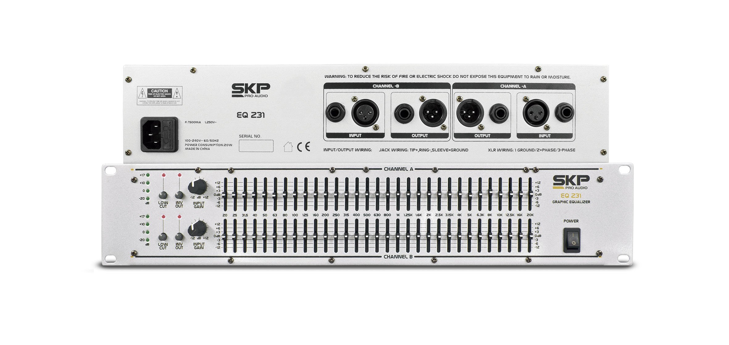 SKP PRO AUDIO EQ-231 GRAPHIC EQUALIZER 2X31