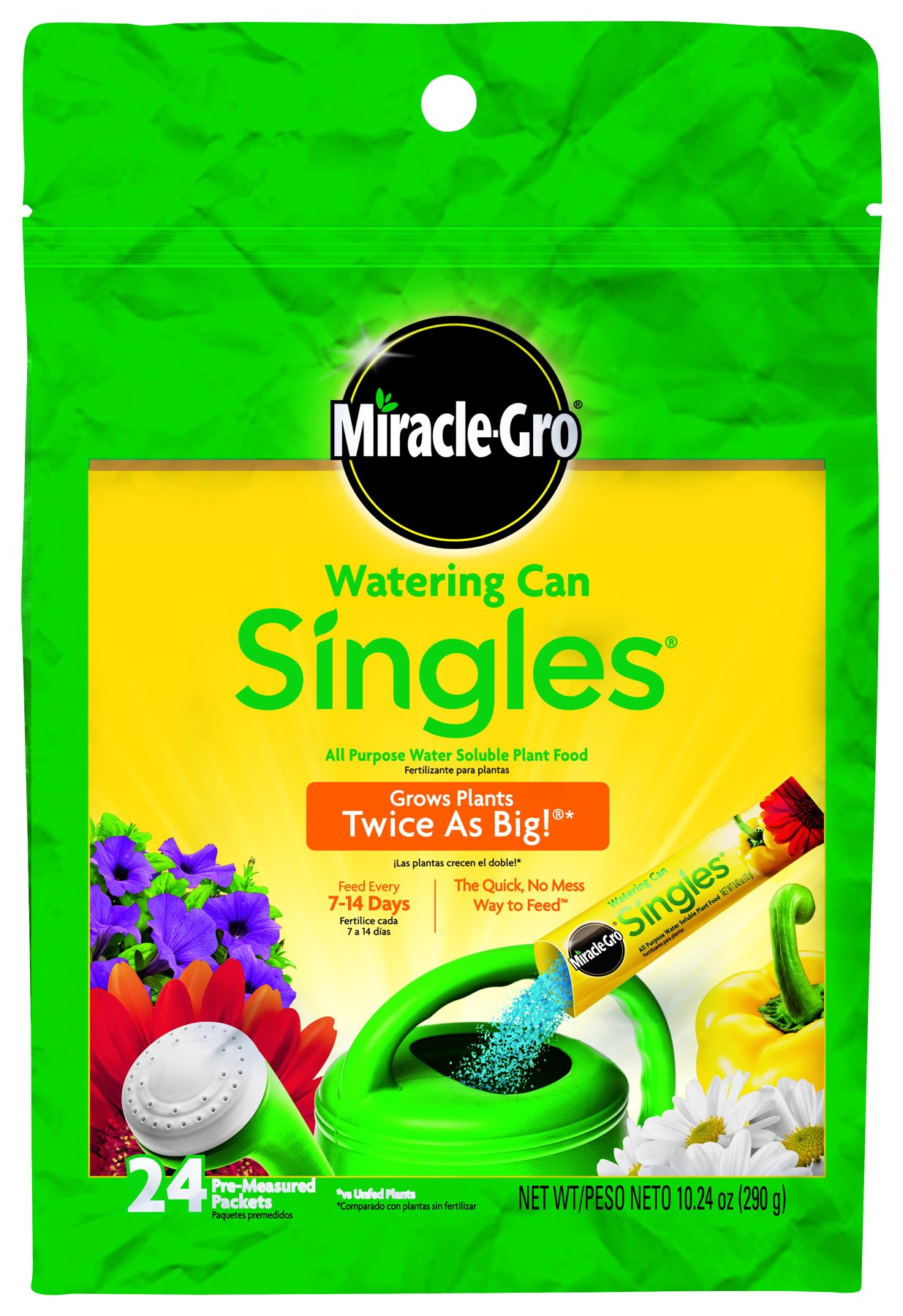 Miracle-Gro 1013203 Watering Can Singles All Purpose Water Soluble Plant Food, 24-8-16, 24-Pack by Miracle-Gro (Image #1)