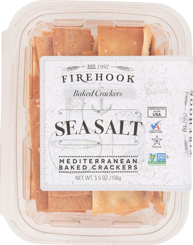 Firehook Baked Crackers, Sea Salt, 5.5 oz