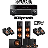 Klipsch RP-8000F 5.1.4-Ch Dolby Atmos Reference Premiere Home Theater Speaker System with Yamaha AVENTAGE RX-A2080 9.2-Channel 4K Network AV Receiver