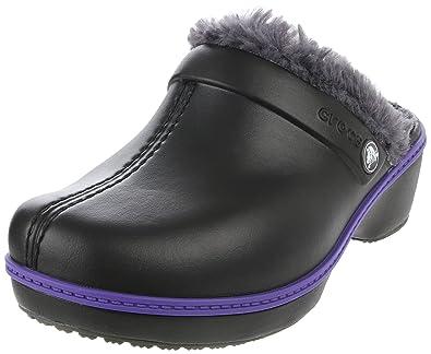 6bd8d67dfba18 Crocs Cheerful Christy Fuzzy Clog (Toddler Little Kid)