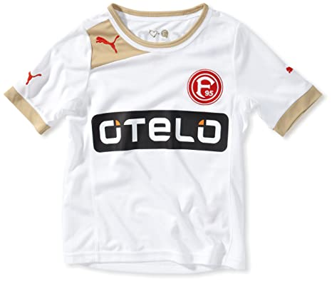 Puma - Camiseta de fútbol sala infantil, tamaño 164 UK, color blanco - team