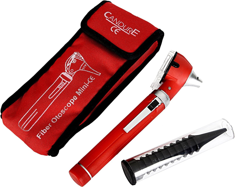 Mini base - colour rojo de fibra óptica - 10 una vez que el + funda de cepillo plástico ESPÉCULOS