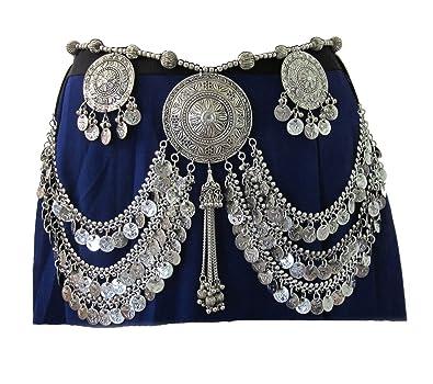 IndiaStop Tribal Belly Dance Coin Fringe Tassel Belt - Women s Novelty  Jewelry - Bohemian Gypsy Hippie 229363dad2b69