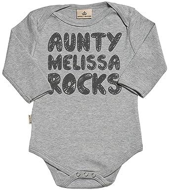 Regalos Bebe Personalizados Amazon.Spoilt Rotten Personalizados Bebe Aunty Rocks Design Body