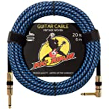 RIG NINJA 1/4 GUITAR CABLE for the Serious Musician, Quality Electric Guitar Cord for a Clean Tone to the Amp, Solid & Durable Instrument Cables that Look Great, Low Noise Cords for Guitars & Bass