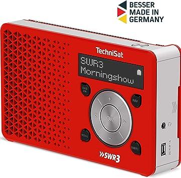 Technisat Digitradio 1 Swr3 Edition Dab Radio Klein Tragbar Mit Lautsprecher Dab Ukw Favoritenspeicher Direktwahltaste Zu Swr3 1 Watt Rms Rot Silber Heimkino Tv Video