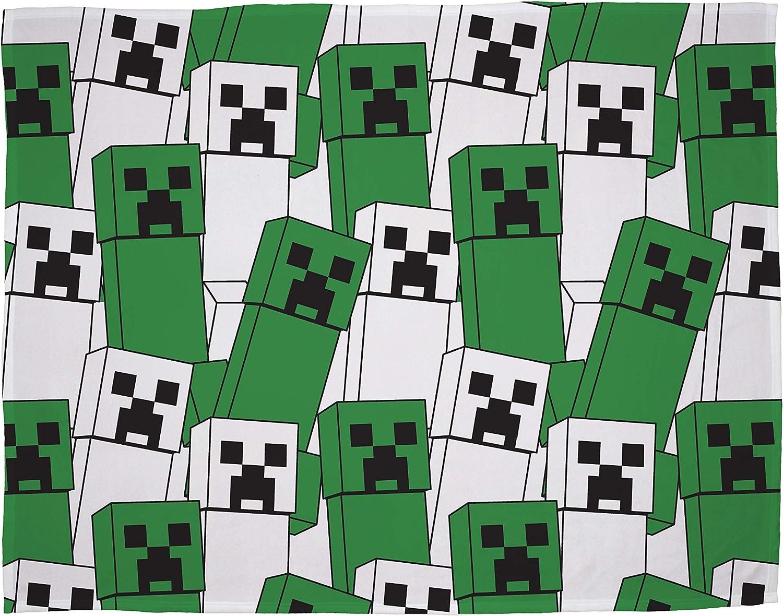 Parfait pour nimporte quelle chambre Minecraft Couverture polaire officielle audacieuse Couverture super douce au design Creeper
