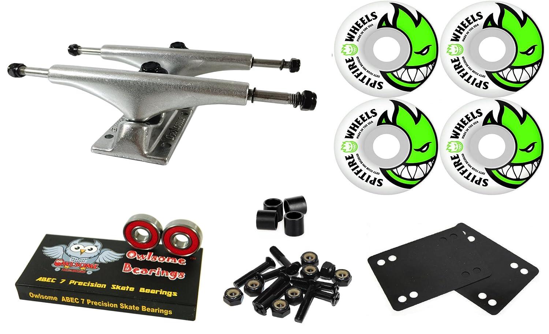 Owlsome 5.25 Polished Aluminum Skateboard Trucks Spitfire Bighead 53 mmホイールコンボセット   B07CL835CC