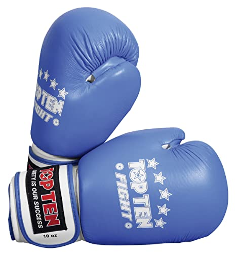 10 oz Blue TopTen Fight Unisex Adult Gloves