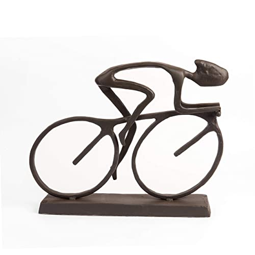 Danya B. ZD480 Metal Art Home D cor for The Bicycle Enthusiast – Cyclist Cast Bronze Sculpture