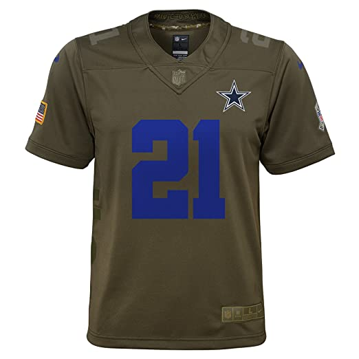 official photos f40b7 64fc9 Amazon.com: Nike Ezekiel Elliott Dallas Cowboys Youth Salute ...