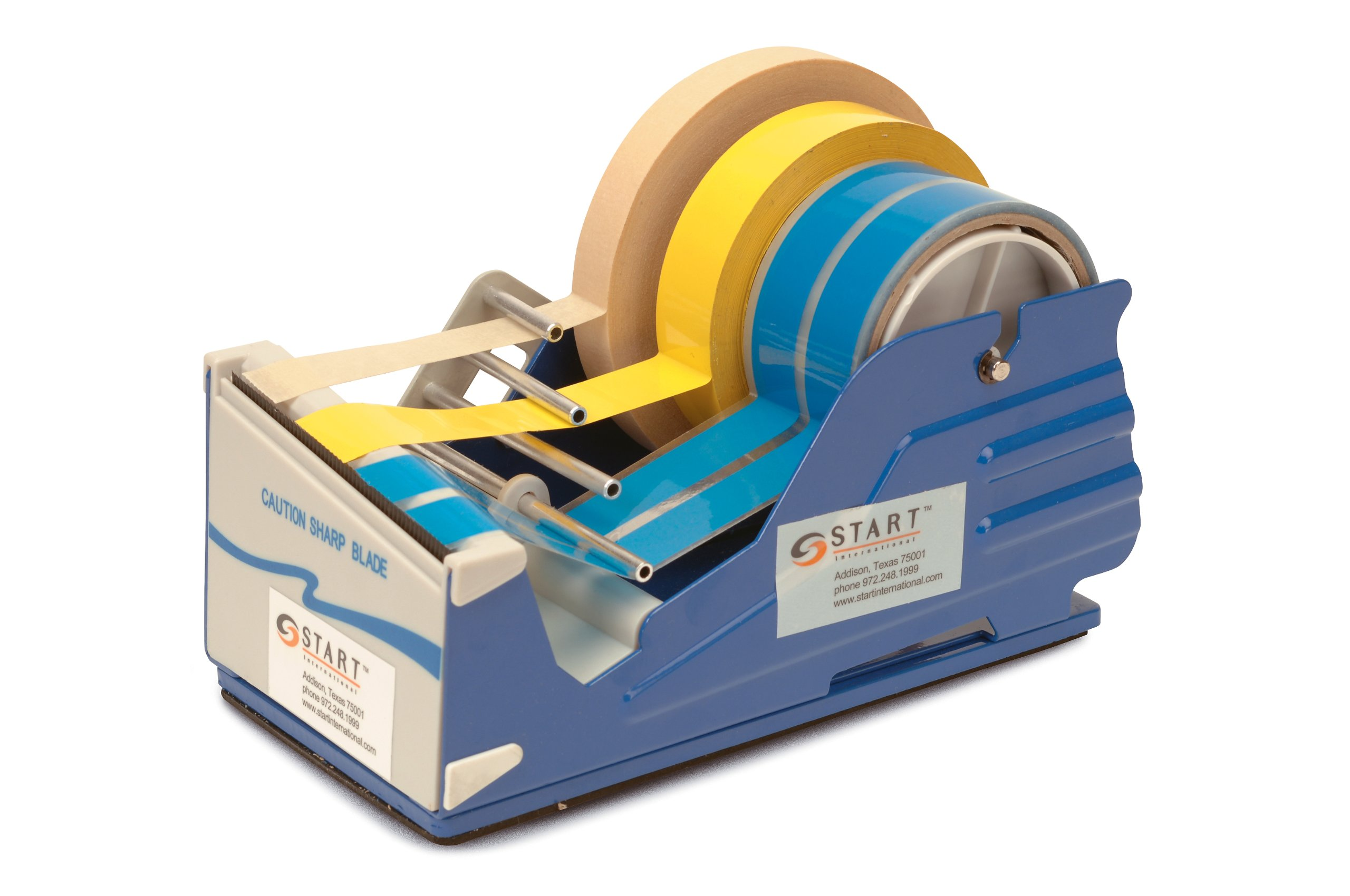 START International SL7346 Multi Roll Tape Dispenser with Baked Enamel Finish, 9.375'' Length x 4.750'' Width x 5.250'' Depth by START International