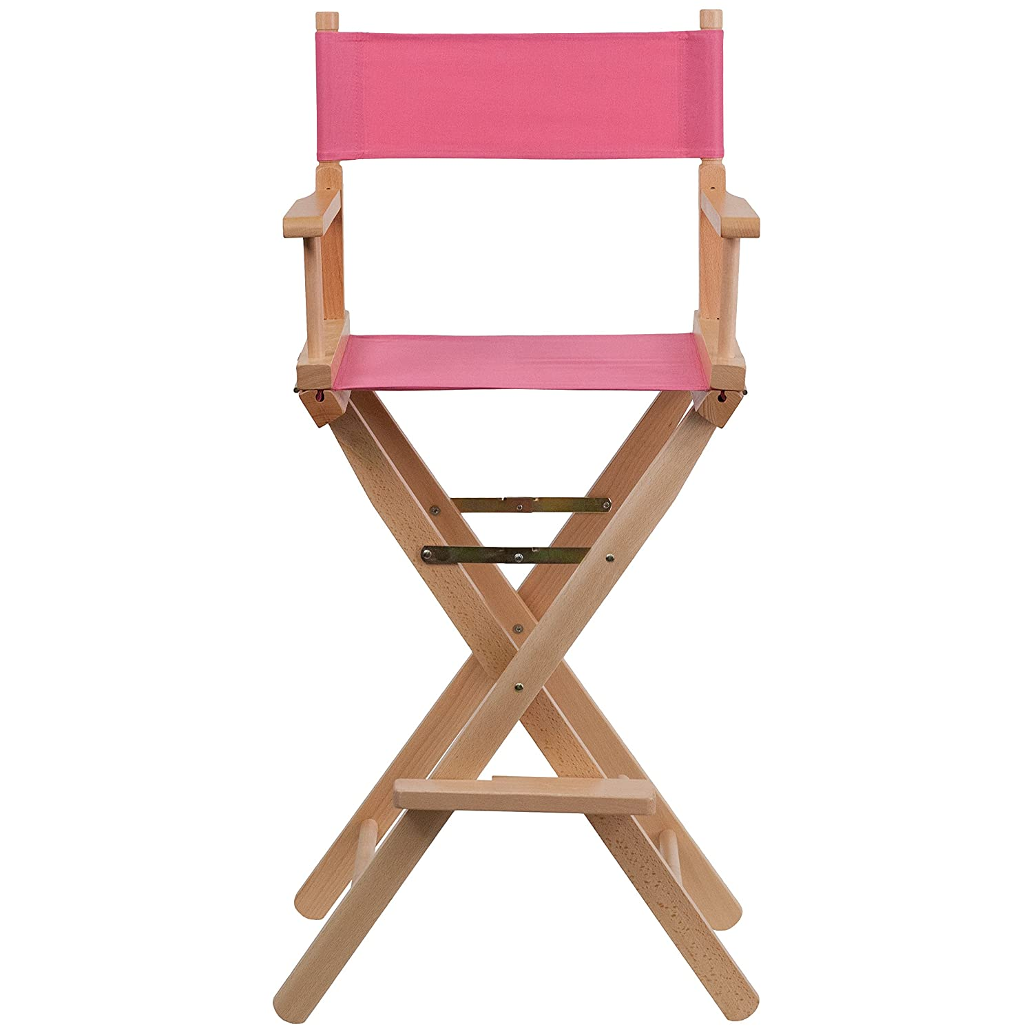 Amazon.com: Flash Furniture Bar Height Directors Chair In Pink: Kitchen U0026  Dining