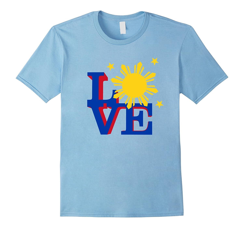 Philippine Flag Love t-shirt-Vaci