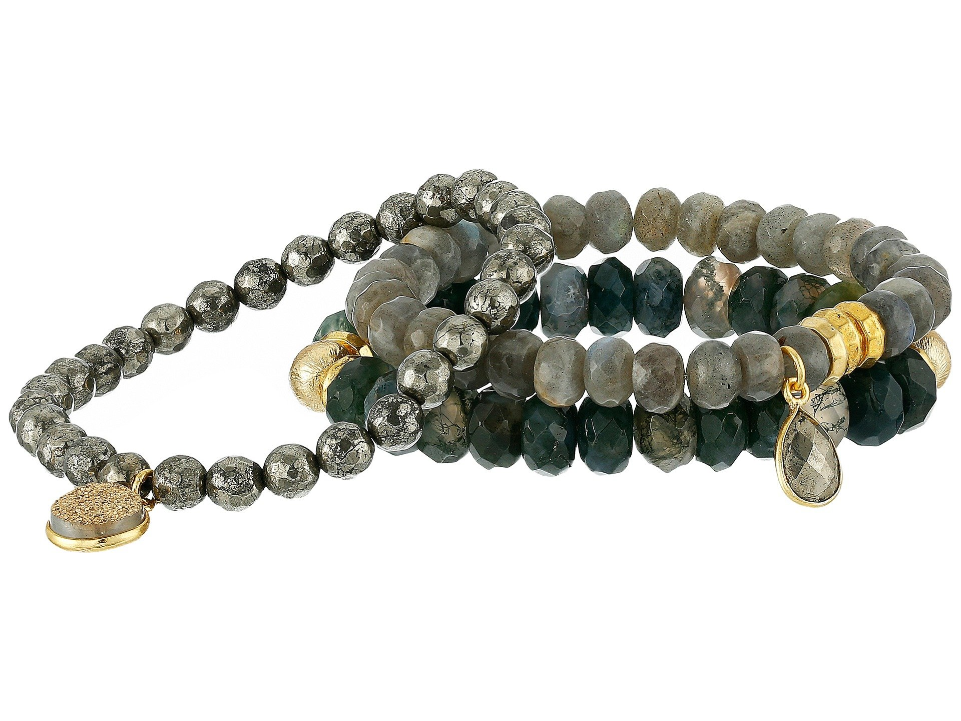 Dee Berkley Women's Safe Travels Bracelet Gray/Green Bracelet