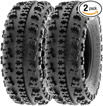 SunF All Terrain ATV Tires 21x7-10 21x7x10 Race 6 PR A017 Tubeless Set of 2
