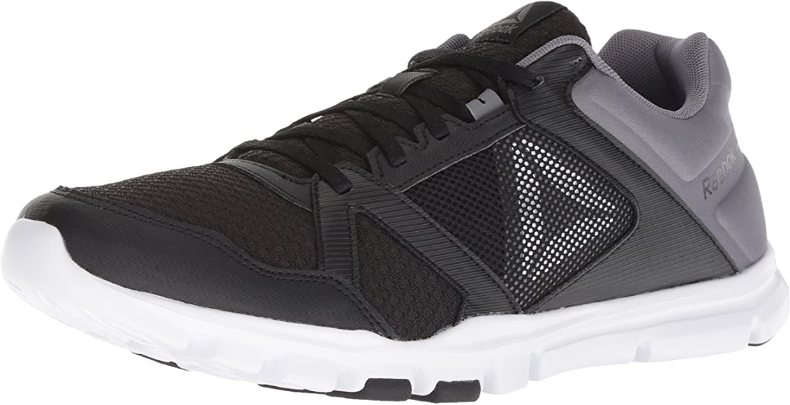 e1061322fba1 Reebok Men's Yourflex Train 10 Cross Trainer, Black/Shark/White, ...