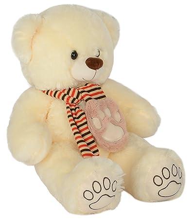7046a37672f4 Dhoom Soft Toys, Teddy Bear with Muffler/Stuffed Teddy Bear/Stuffed Spongy  Hugable