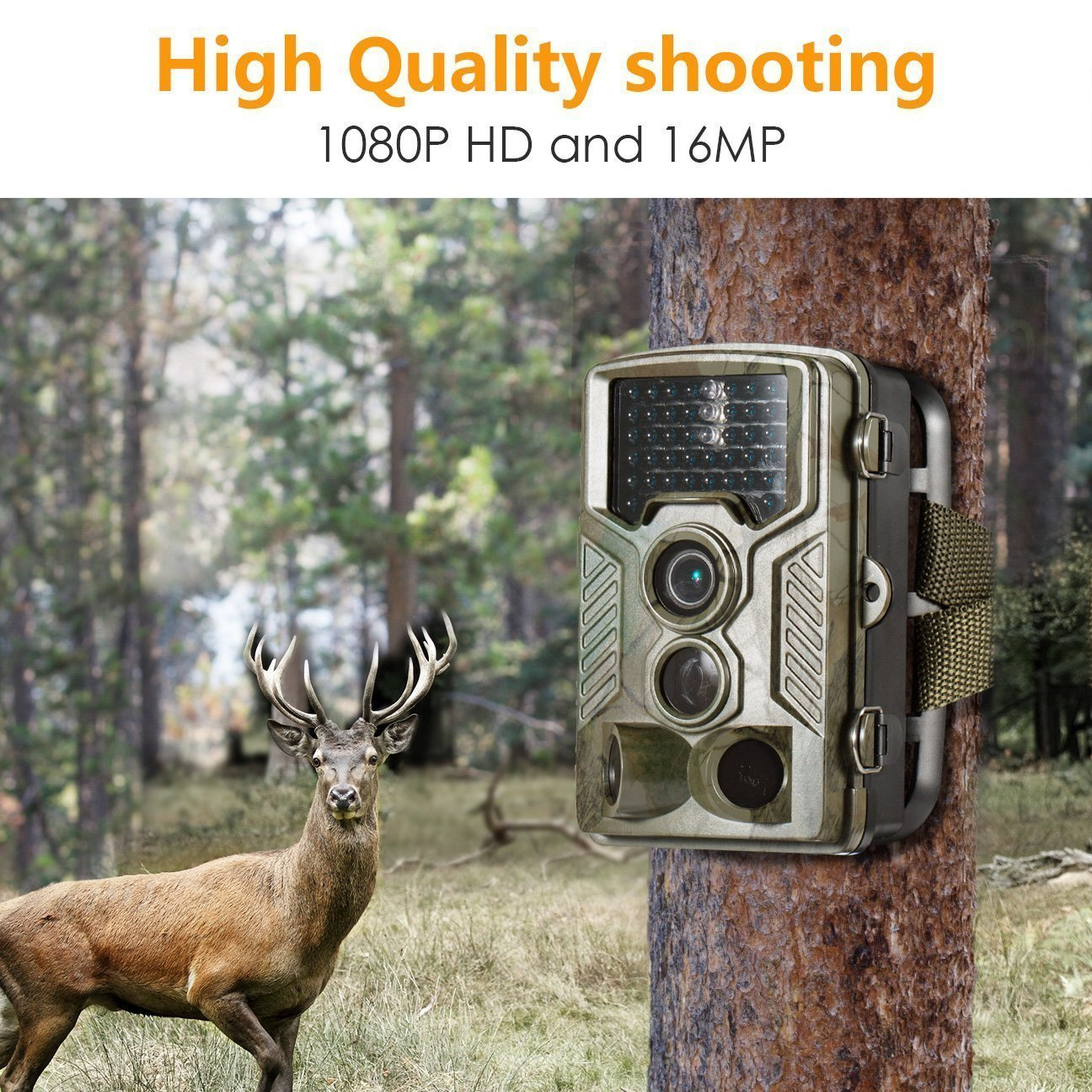 Ip Trail hunting camera 16MP 1080p 120° PIR Sensor wildlife game camera 65ft Infrared Scouting Camera with night vision 46pcs IR LEDs IP56 waterproof by infinity prodotti (Image #9)