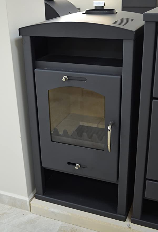 Estufa de leña con caldera integral de combustible sólido para calefacción central 12/17 kw potencia de calefacción: Amazon.es: Bricolaje y herramientas