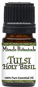 Miracle Botanicals Tulsi Holy Basil Essential Oil - 100% Pure Ocimum Sanctum - Therapeutic Grade (5ml)