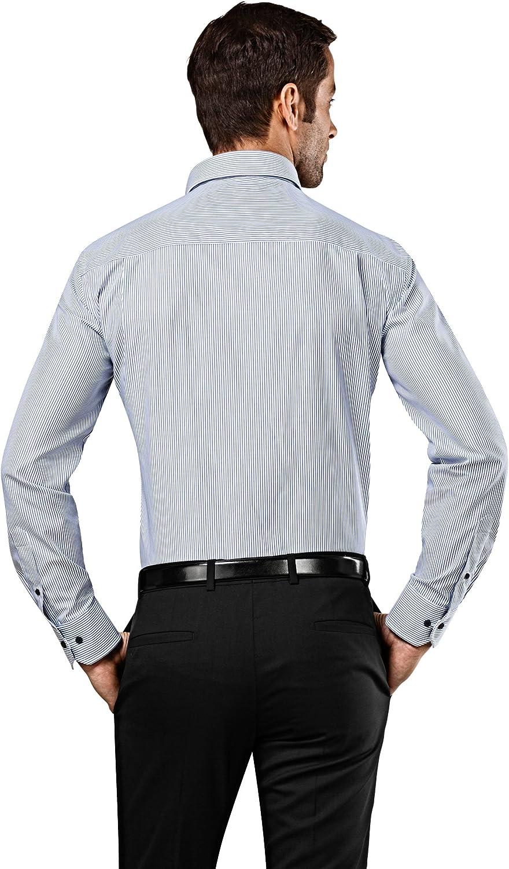 Collo Classico Manica Lunga Embraer Camicia Uomo Eleganti Facile da Stirare Taglio Aderente//Slim-Fit in Tinta Unita