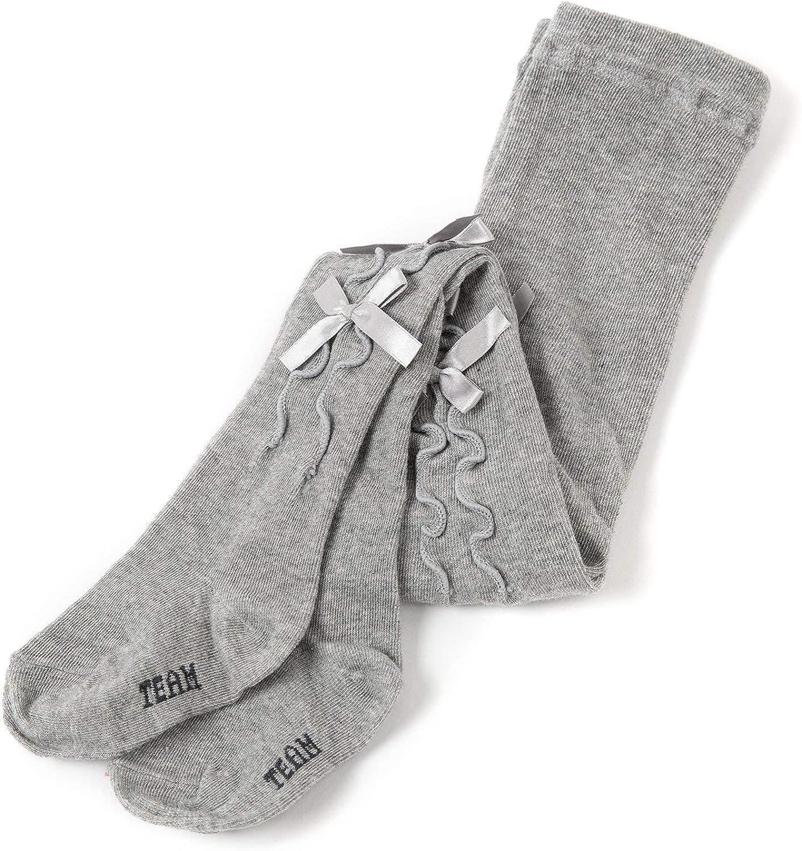 MooMooz baby girls ribbons cotton tights flower girl 18 month 2t 3t 4t toddler knit leggings white pink stockings