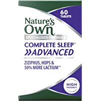 Nature's Own Complete Sleep Advanced Tablets - Relieves Sleeplessness - Calms Nerves - Helps Fall Asleep, 60 count