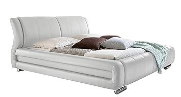 sette notti Polsterbett Bett Doppelbett XXL Weiß, Liegefläche 160 x ...
