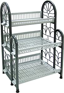 (COLOSSEUM 3 TIER SHELF, Thailand, Gray, Size 52 x 41 x 82 CM (STP01