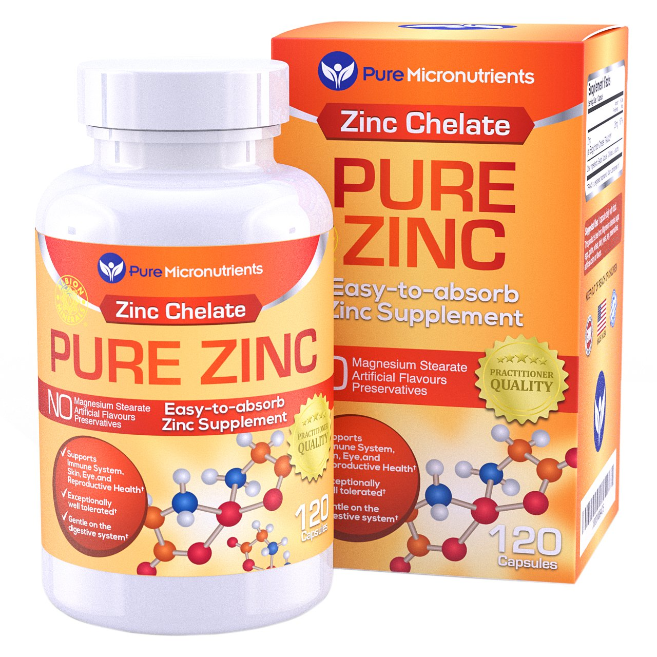 Zinc chelate for acne