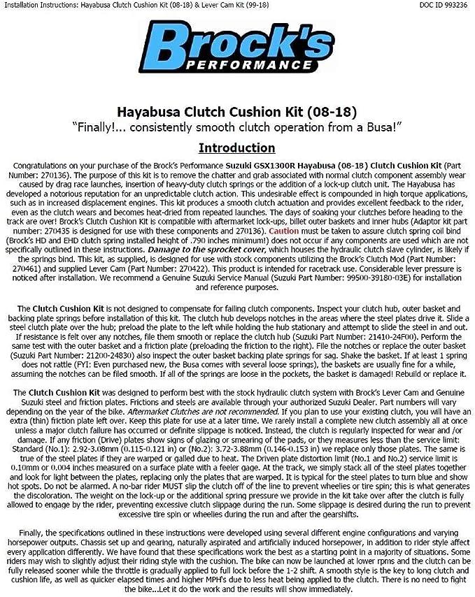 Motors Motorcycle Parts research.unir.net Brock's Clutch Cushion ...