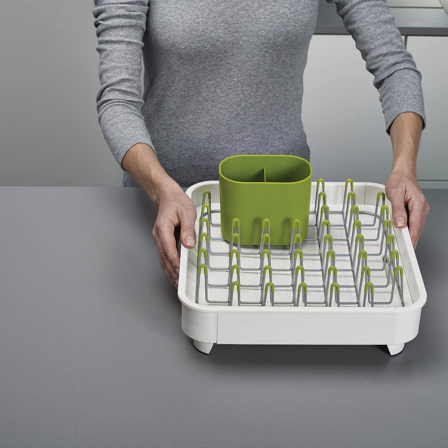 Joseph Joseph 85071 Extend Expandable Dish Drying Rack And Drainboard Set Foldaway Integrated Spout Drainer Removable Steel Rack And Cutlery Holder White Arts Crafts Sewing Amazon Com